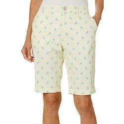 Gloria Vanderbilt Petite Flip Flops Nimah Bermuda Shorts