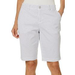 Gloria Vanderbilt Petite Polka Dot Nimah Bermuda Shorts