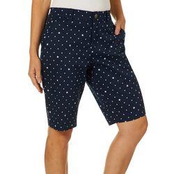 Gloria Vanderbilt Petite Star Print Nimah Bermuda Shorts
