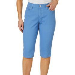Gloria Vanderbilt Petite Comfy Curvy Solid Skimmer Shorts