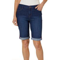 Gloria Vanderbilt Petite Joslyn Roll Cuff Bermuda Shorts