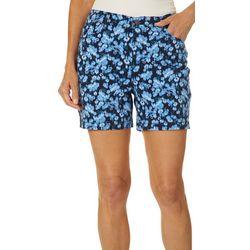 Gloria Vanderbilt Petite Amanda Garden Wind Print Shorts