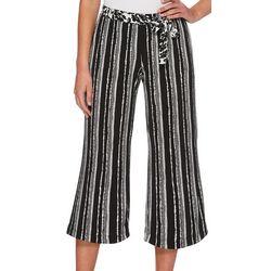 Rafaella Petite Floral Stripe Cropped Pants