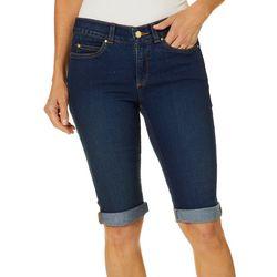 Rafaella Petite Denim Cuffed Bermuda Shorts
