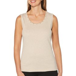 Rafaella Petite Embellished Ribbed Tank Top