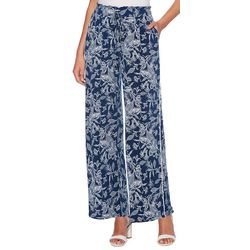 Rafaella Petite Floral Drawstring Pull-On Pants