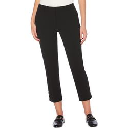 Rafaella Petite Solid Zipper Front Ankle Pants