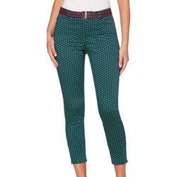 Rafaella Petite Geometric Print Crop Ankle Pants