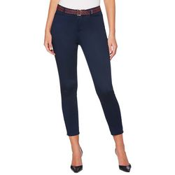 Rafaella Petite Solid Zipper Hem Crop Pants