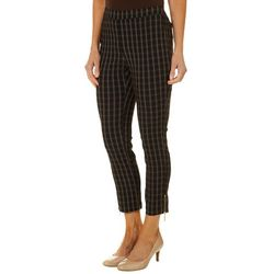 Rafaella Petite Window Pane Plaid Pants