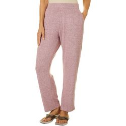 Coral Bay Energy Petite Heathered Solid Cozy Knit Pants
