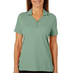 Petite Solid Textured Short Sleeve Shirt