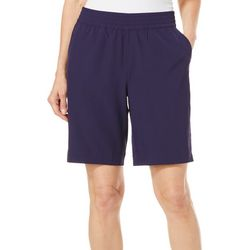 Coral Bay Energy Petite Split Hem Pull On Bermuda Shorts