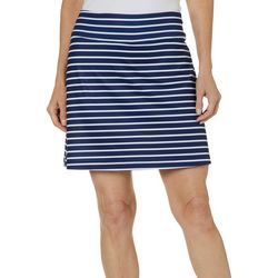Coral Bay Energy Petite Striped Pull On Skort