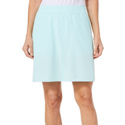 Coral Bay Energy Petite Solid Woven Skort