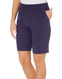 Coral Bay Energy Petite Pull-On Stretch Side Split Shorts