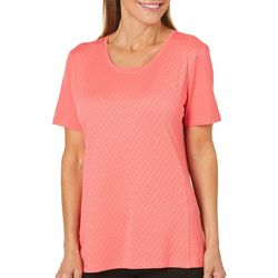 Coral Bay Energy Petite Solid Textured Top