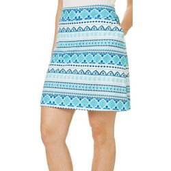 Coral Bay Energy Petite Mixed Diamond Print Skort