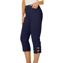 Coral Bay Petite Millennium Pull On Bow Detail Capris