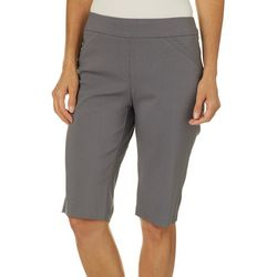 Coral Bay Petite Millennium Solid Skimmer Shorts