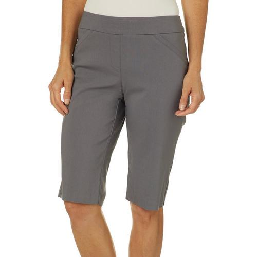 Coral Bay Petite Millennium Solid Shorts