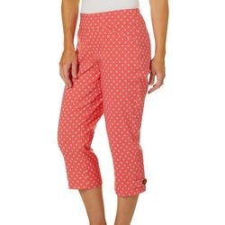 Coral Bay Petite Geometric Floral Print Pull On