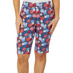 Coral Bay Petite Firework Printed Skimmer Shorts