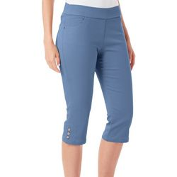 Coral Bay Petite Solid Super Stretch Pull-On Capris