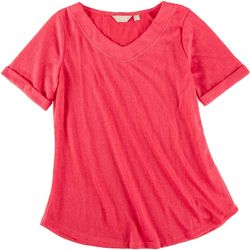 Coral Bay Petite Slight V-Neckline Top