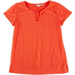 Coral Bay Petite Solid V-Neck Top