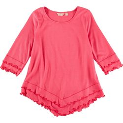 Coral Bay Petite Solid Lettuce Trim Top