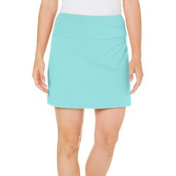 Coral Bay Energy Petite Solid Knit Skort