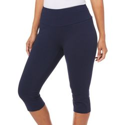 Coral Bay Energy Petite Solid Skimmer Capri Leggings