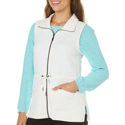 Coral Bay Petite Solid Quilted Vest