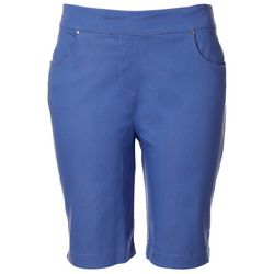 Coral Bay Petite 8 Solid Pull On Shorts