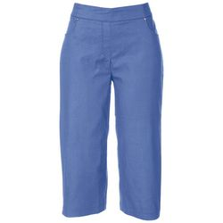 Coral Bay Petite Solid Mid Rise Capris