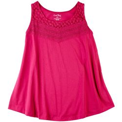 Coral Bay Petite Lace Front Detail Sleeveless Top