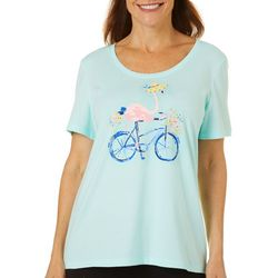 Coral Bay Petite Jeweled Flamingo Bicycle Top