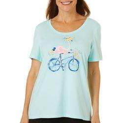 Petite Jeweled Flamingo Bicycle Top