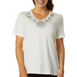Coral Bay Petite Jeweled Sea Life Top