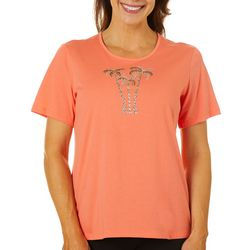Coral Bay Petite Palm Tree Jeweled Trio Top