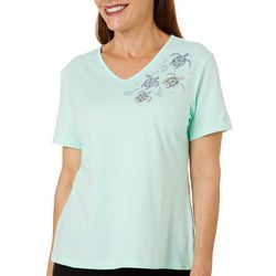 Coral Bay Petite Jeweled Turtles Top