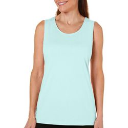 Coral Bay Petite Solid Round Neck Tank Top