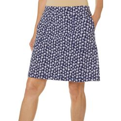 Coral Bay Energy Petite Palm Tree Print Skort