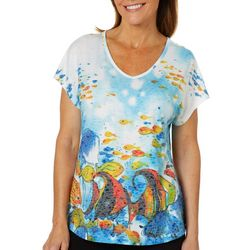 Coral Bay Petite Burnout Under The Sea Top
