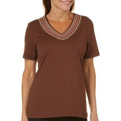 Coral Bay Petite Embroidered Bib Top