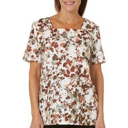 Coral Bay Petite Painted Floral Top