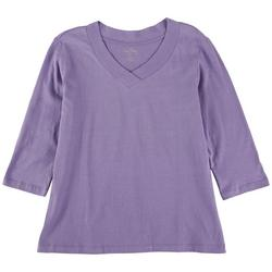 Petite So Basic 3/4 Sleeve Top