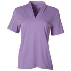 Petite Solid V-Neck Everyday Tee
