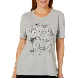 Coral Bay Petite Embroidered Sandpipers Florida Tee